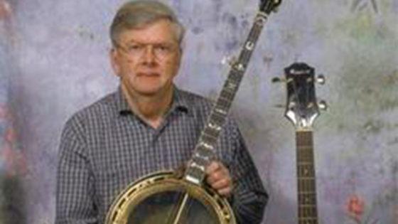 Bobby Patterson holding banjo