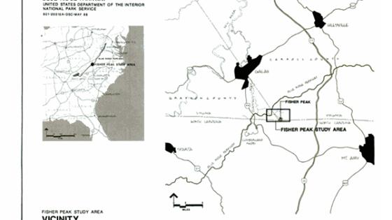 Fisher Peak Study Area map